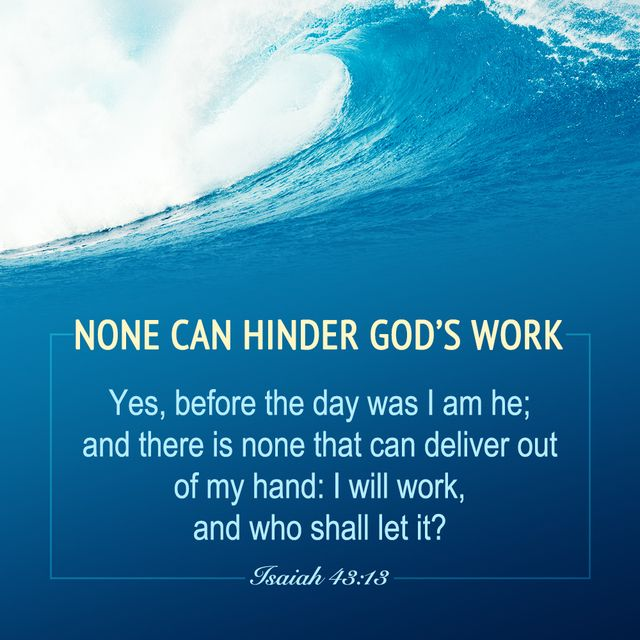 None Can Hinder God's Work