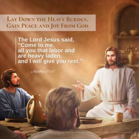 LAY DOWN THE HEAVY BURDEN, GAIN PEACE AND JOY FROM GOD