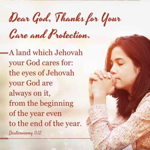 Dear God, Thanks for your Care and Protection.