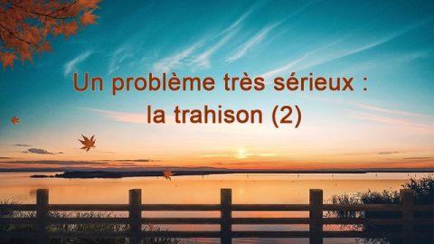 Un problème très grave : la trahison (2)